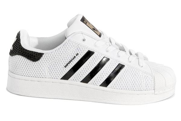Женские кроссовки Adidas Superstar 4D белые