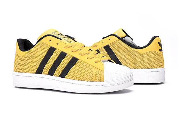 Женские кроссовки Adidas Superstar 4D желтые
