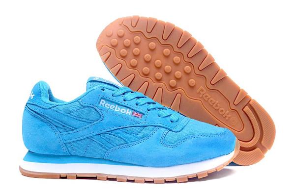 Женские кроссовки Reebok Classic Suede голубые