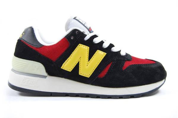 Женские кроссовки New Balance 574 черные с красным