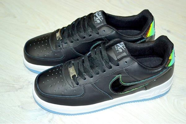 Женские кроссовки Nike Air Af-1 82 черные с синим