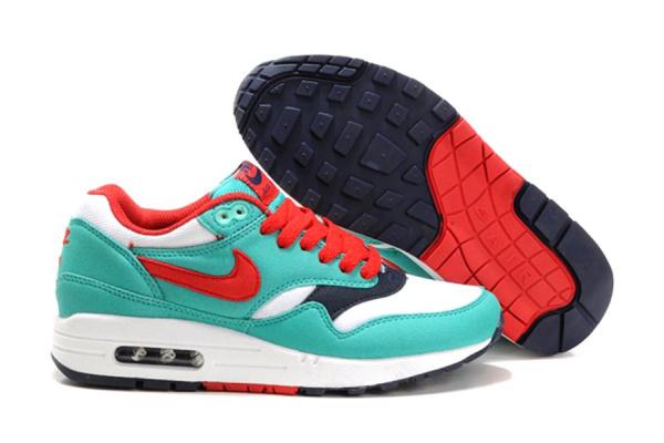 Женские кроссовки Nike Air Max 87 бирюзовые с красным