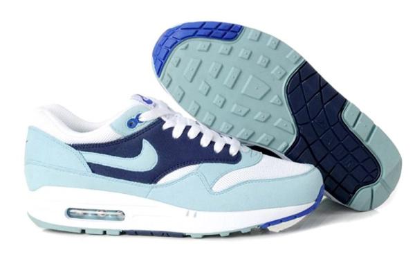Женские кроссовки Nike Air Max 87 голубые с синим