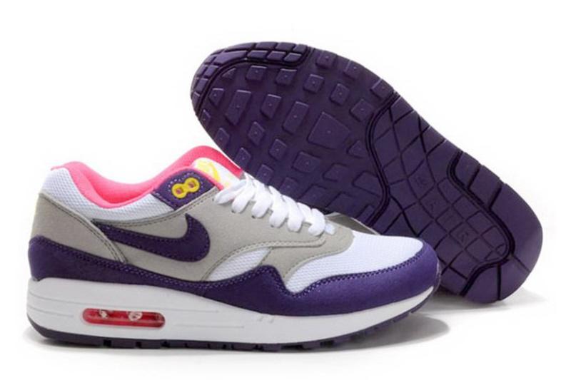 ed4576ef Nike (Найк) кроссовки Air Max 87 серые с фиолетовым купить | ASPOLO