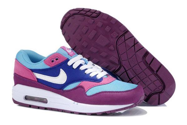 Женские кроссовки Nike Air Max 87 Tape фиолетовые с голубым