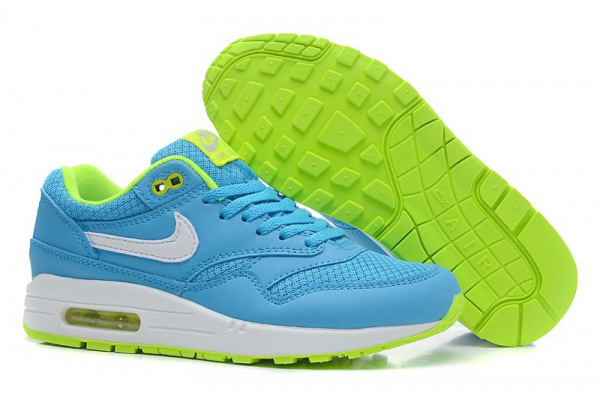 Женские кроссовки Nike Air Max 87 Tape голубые с зеленым