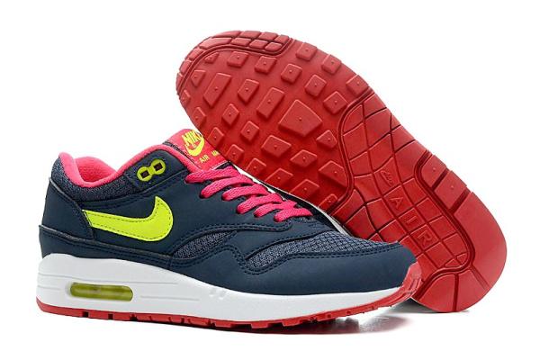 Женские кроссовки Nike Air Max 87 Tape темно-синие с розовым
