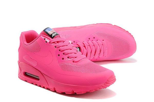 Женские кроссовки Nike Air Max Hyperfuse 90 малиновые