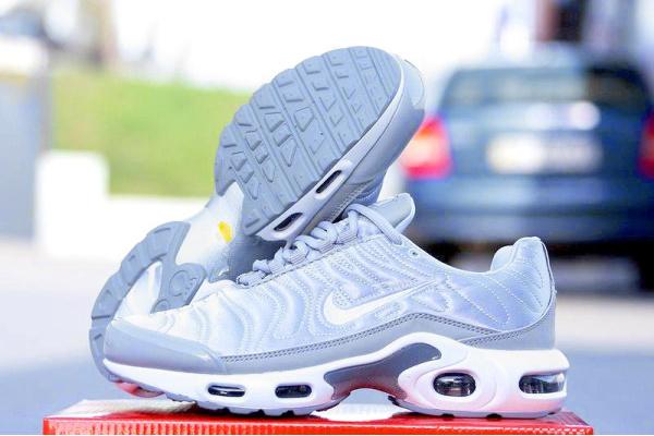 Женские кроссовки Nike Air Max Plus SE NT Satin Pack серебряные