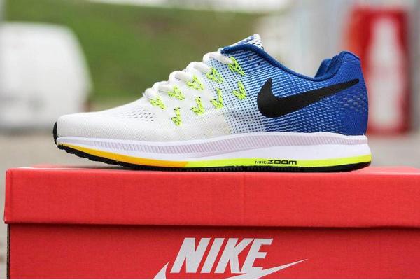 Женские кроссовки Nike Air Zoom Pegasus 34 белые с синим