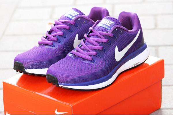 Женские кроссовки Nike Air Zoom Pegasus 34 фиолетовые