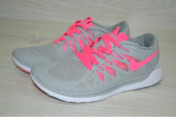 Женские кроссовки Nike Free 5.0 розовые с серым