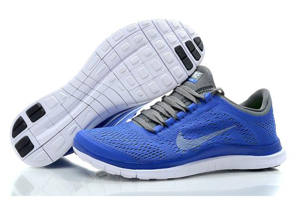 Женские кроссовки Nike Free Run 3.0 голубые