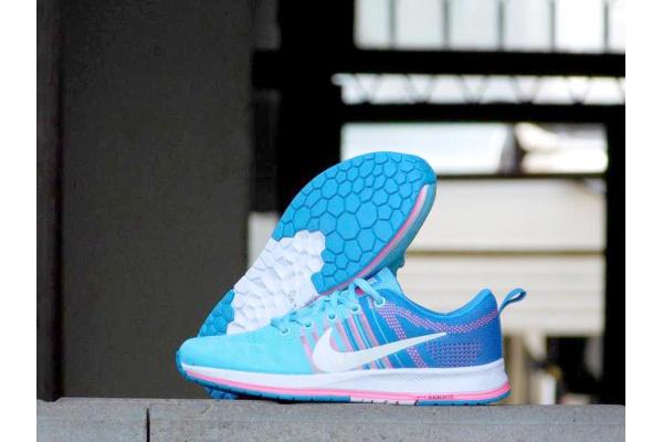 Женские кроссовки Nike Zoom Pegasus 33 голубые с розовым
