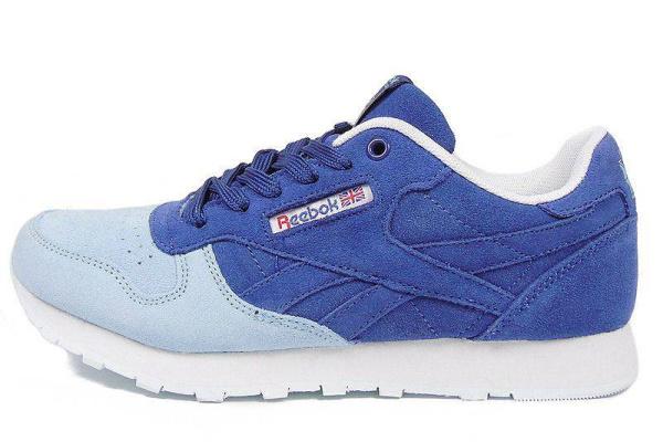 Женские кроссовки Reebok Classic синие с голубым