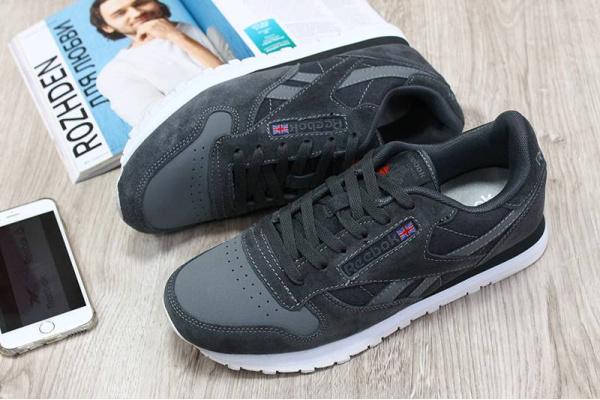 Мужские кроссовки Reebok Classic темно-серые