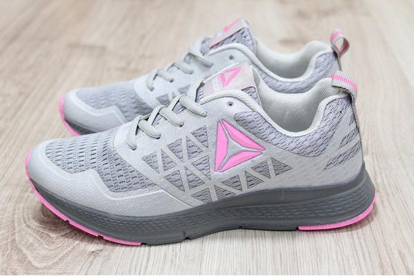 Женские кроссовки Reebok Run Supreme 3.0 MT серые с розовым