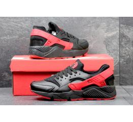 Купить Чоловічі кросівки Nike Air Huarache чорні з червоним