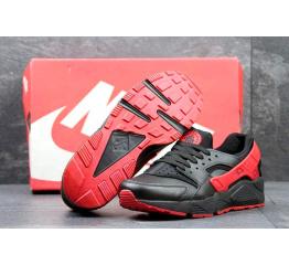 Купить Чоловічі кросівки Nike Air Huarache чорні з червоним в Украине