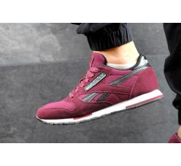 Купить Мужские кроссовки Reebok Classic Leather Suede бордовые в Украине