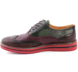Мужские туфли Zara бордовые с зеленым