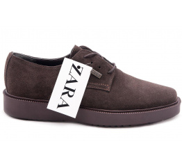 Мужские туфли Zara темно-коричневые