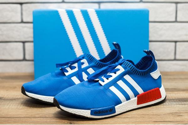 Мужские кроссовки Adidas NMD La Marque Aux 3 Bandes голубые