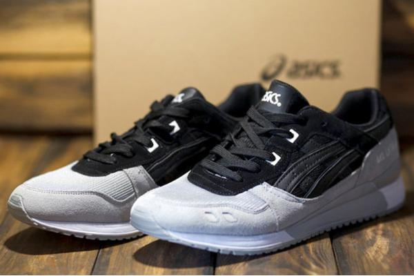 Мужские кроссовки Asics GEL-Lyte III серые с черным