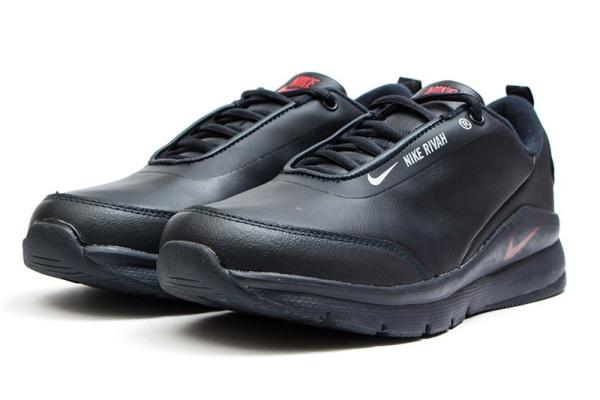 Мужские кроссовки Nike Rivah Premium темно-синие с красным