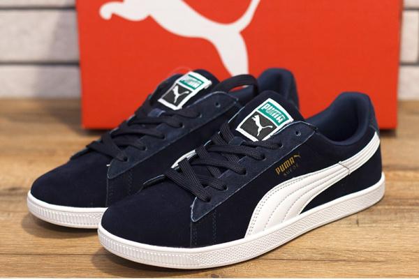 Мужские кроссовки Puma Suede темно-синие