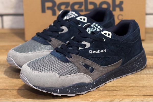 Мужские кроссовки Reebok Hexalite Ventilator темно-синие с серым