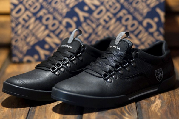 Мужские туфли сникеры Tommy Hilfiger черные