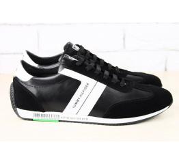 Мужские туфли сникеры Tommy Hilfiger черные с белым