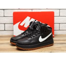 Купить Мужские высокие кроссовки Nike Lunar Force 1 черные с белым
