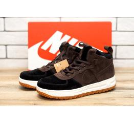 Купить Мужские высокие кроссовки Nike Lunar Force 1 коричневые