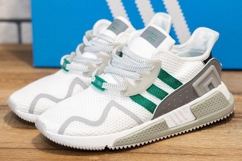 buy popular ec716 12ab8 Женские кроссовки Adidas EQT Cushion ADV белые с зеленым