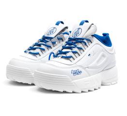 Женские кроссовки Fila Disruptor 2 x Holypop белые с голубым