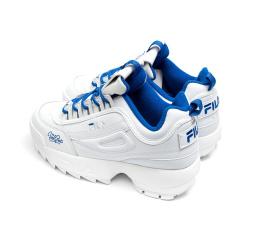 Купить Жіночі кросівки Fila Disruptor 2 x Holypop білі з блакитним в Украине