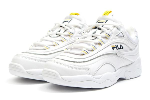 Женские кроссовки Fila Ray белые с желтым