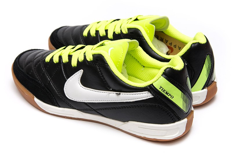 cc036d6b Nike (Найк) кроссовки Tiempo Natural IV LTR IC черные с неоновым ...