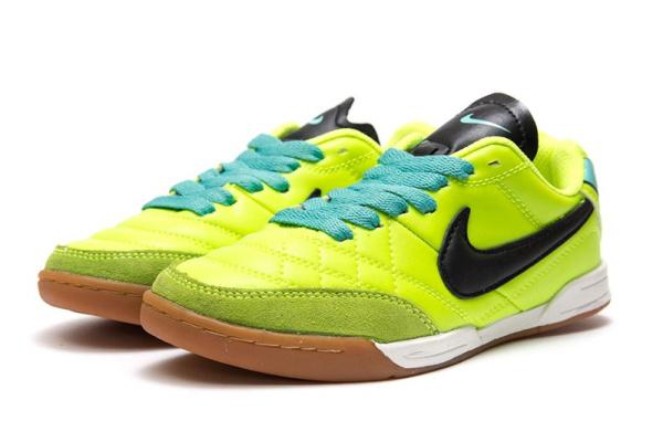 4ce1e881 Nike (Найк) кроссовки Tiempo Natural IV LTR IC неоново-зеленые ...