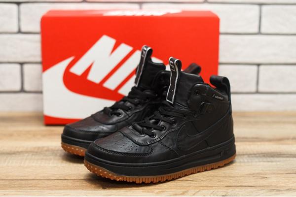 Женские высокие кроссовки Nike Lunar Force 1 черные