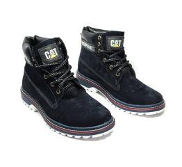 Мужские ботинки на меху CAT темно-синие