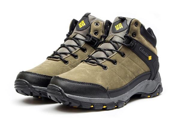 Мужские ботинки на меху Columbia хаки