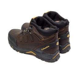 Мужские ботинки на меху Columbia коричневые