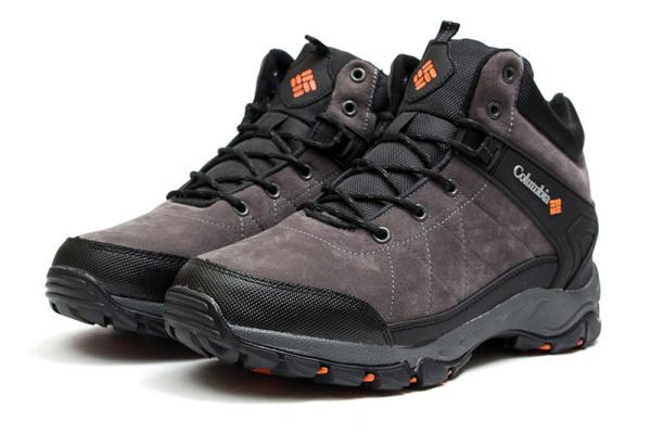 Мужские ботинки на меху Columbia серые