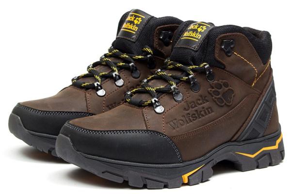 Мужские ботинки на меху Jack Wolfskin коричневые