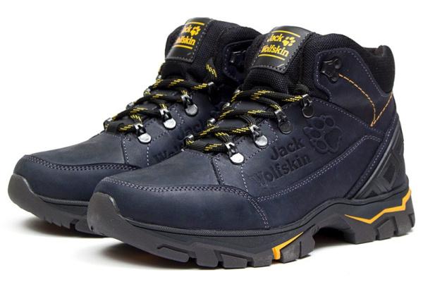 Мужские ботинки на меху Jack Wolfskin синие