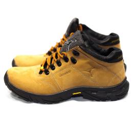 Мужские ботинки на меху Jordan светло-коричневые