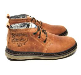 Мужские ботинки на меху Montana коричневые